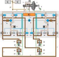 Схема антипробуксовочной системы ASR