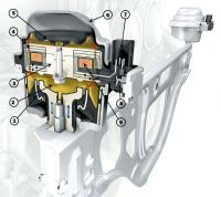 Магнитореологическая опора двигателя