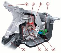 Электромагнитная опора двигателя