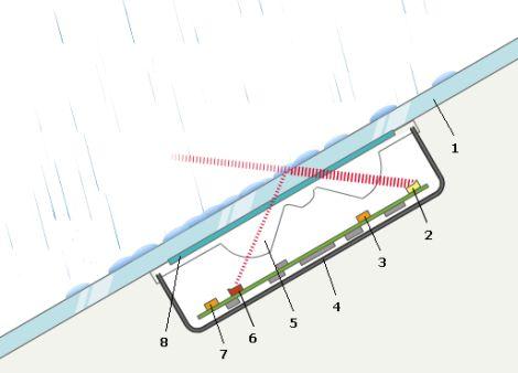 Схема датчика дождя