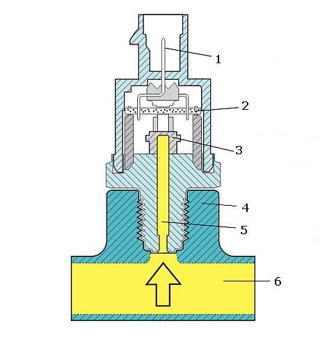 Схема датчика давления топлива