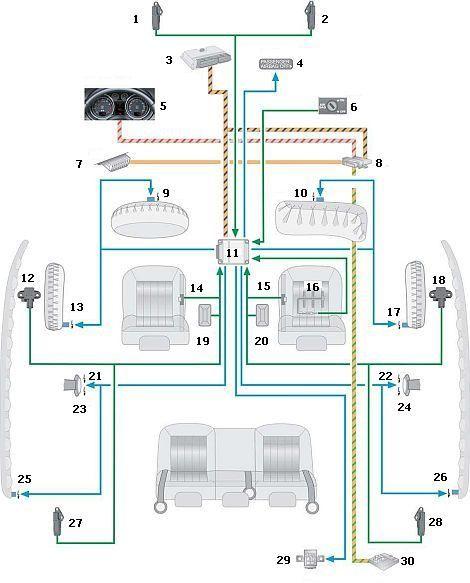 Cхема системы пассивной